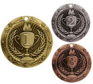 1st, 2nd, 3rd Place World Class Medal - Gold, Silver or Bronze | Engraved Place Medallion | 3 Inch Wide