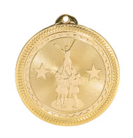 Cheer / Competitive BriteLazer  Medal - Gold | Spirit Pyramid Award | 2 Inch Wide Cheer / Competitive BriteLazer Medal - Gold