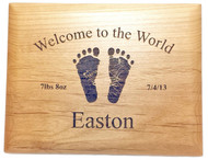 Baby Footprints Plaque - Personalized