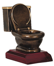 Toilet Bowl Trophy | Last Place Loser Award | Golden Throne Prize