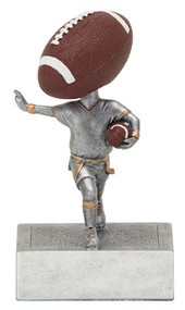 Flag Football Bobblehead Trophy | Football Bobble Head Award | 5.5 Inch Tall