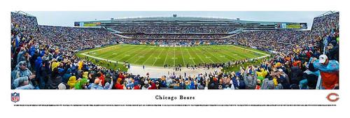 Chicago Bears Panorama Print #3 (50 Yard) - Unframed