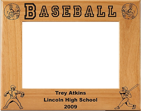 Baseball Picture Frame 2 - Personalized
