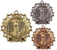 Lacrosse Ten Star Medal - Gold, Silver & Bronze | La Crosse 10 Star Award | 2.25 Inch Wide