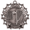 Lacrosse Ten Star Medal - Gold, Silver or Bronze | La Crosse 10 Star Medallion | 2.25 Inch Wide Lacrosse Ten Star Medal - Silver