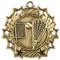 Lacrosse Ten Star Medal - Gold, Silver or Bronze | La Crosse 10 Star Medallion | 2.25 Inch Wide Lacrosse Ten Star Medal - Gold