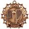 Lacrosse Ten Star Medal - Gold, Silver or Bronze | La Crosse 10 Star Medallion | 2.25 Inch Wide Lacrosse Ten Star Medal - Bronze