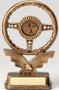 Racing Steering Wheel Trophy   Engraved Golden Wheel Award - 8.5 Inch Tall - Clearance