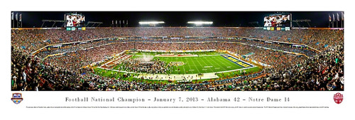 2013 Football National Championship Panorama Print - Unframed
