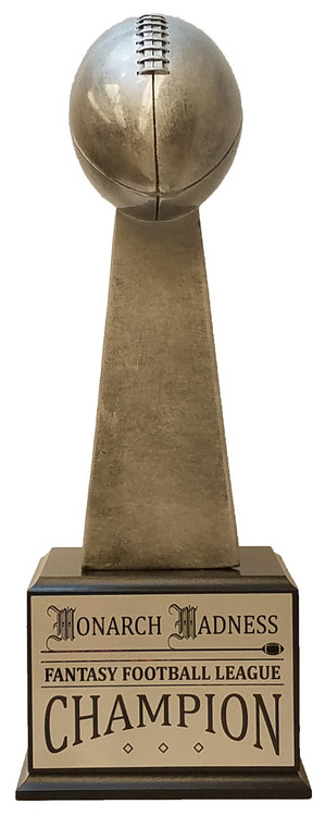 Football Silver Tower Perpetual Trophy