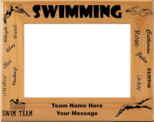 Swimming NAMES Picture Frame - Personalized