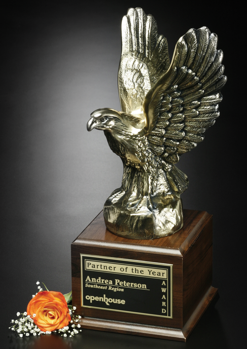 Fearless Eagle Bronze Corporate Award - 17 Inch Tall