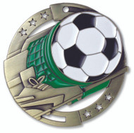 Soccer M3XL Medal | Engraved Futbol Medallion | 2.75 Inch Wide