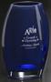"""Cobalt Oval Vase Crystal Award - Medium 7"""""""