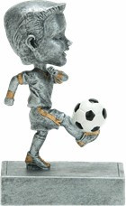 "Soccer ""Rock 'n Bop"" Bobblehead Trophy - Male / Female 