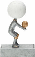 Volleyball Bobblehead Trophy | Volleyball Award | 5.5 Inch Tall