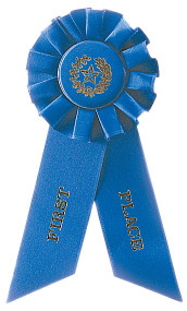 Stock Ribbons Rosette Style - First Place