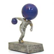 Bowling Ball Bobblehead Trophy | Bowler Bobblehead Award | 5.5 Inch Tall