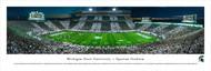Michigan State University Panorama Print #6 (50 Yard - Stripe) - Unframed