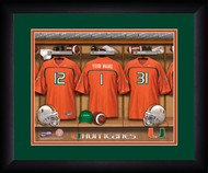 Miami Hurricanes Football Locker Room Print - Personalized