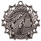 Pinewood Derby Ten Star Medal - Gold, Silver or Bronze | Scout 10 Star Medallion | 2.25 Inch Wide Pinewood Derby Ten Star Medal - Silver