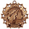 Pinewood Derby Ten Star Medal - Gold, Silver or Bronze | Scout 10 Star Medallion | 2.25 Inch Wide Pinewood Derby Ten Star Medal - ronze