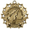 Pinewood Derby Ten Star Medal - Gold, Silver or Bronze | Scout 10 Star Medallion | 2.25 Inch Wide Pinewood Derby Ten Star Medal - Gold