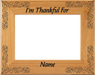 Thanksgiving Picture Frame - Personalized