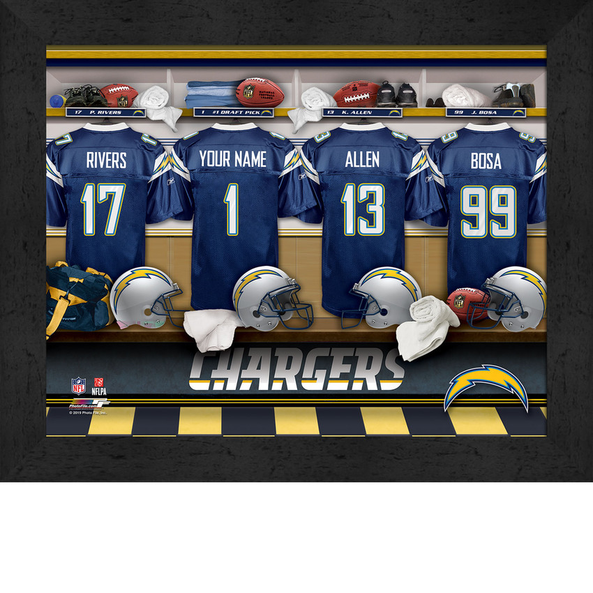 personalized chargers jersey