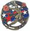 Cheerleading M3XL Medal   Engraved Spirit Medallion   2.75 Inch Wide