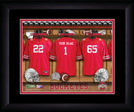 Ohio State Football Locker Room Print - Personalized