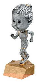 Track Pewter Bobblehead Trophy -  Female