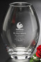"Clear Barrel Vase Crystal Award - Regular 8"""