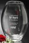 """Clear Barrel Vase Crystal Award - Large 10"""""""