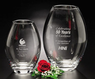 Clear Barrel Vase Crystal Award - 2 sizes