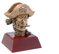 Sculptured Pirate/Buccaneer Mascot Trophy