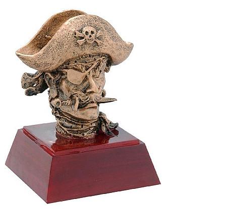 Sculptured Pirate/Buccaneer Mascot Trophy