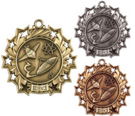 Science Ten Star Medal - Gold, Silver or Bronze | Scientific 10 Star Medallion | 2.25 Inch Wide