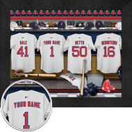Boston Red Sox Locker Room Print - Personalized