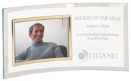 Glass Crescent Engraved Photo Plaque