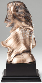 Eagle Sculpture Electroplated Award | Engraved Golden Eagle Award - 7.25 and 8.75 Inch Tall