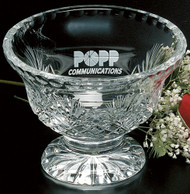 "Durham Footed Trophy Bowl Crystal Award - Small 5.75"" Dia."