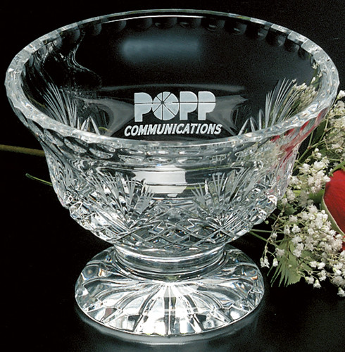 "Durham Footed Trophy Bowl Crystal Award - Small 5.75"" Dia."