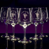 Wine Contour Glasses - Personalized