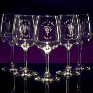 Wine Contour Glasses - Personalized