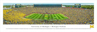 University of Michigan Panorama Print #6 (50 Yard) - Unframed