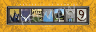 University of WYOMING Campus Letter Art Framed Print - PERSONALIZED