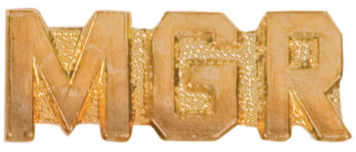 MGR Lapel Pin | Letter Jacket Chenille Pin - MANAGER
