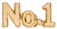 No. 1 Lapel Pin   Number One Letter Jacket Chenille Pin