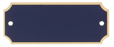 "Engraved Perpetual Black Brass Plate with Gold Border Standard - 1"" x 2.5"""